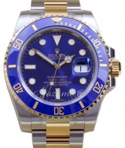 Rolex Submariner Blue Gold Steel