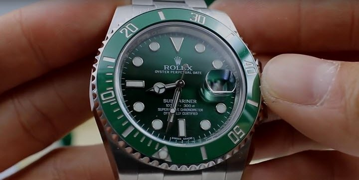 rolex submariner date green review