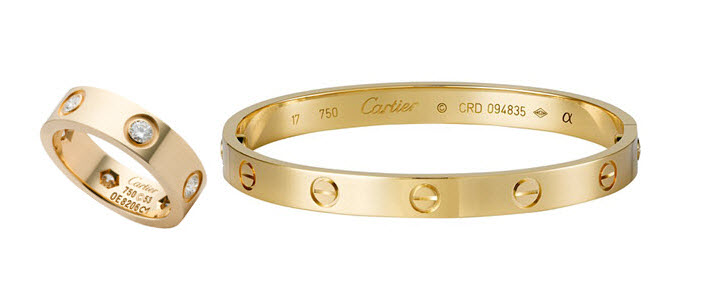 Cartier Love Ring and Bracelet