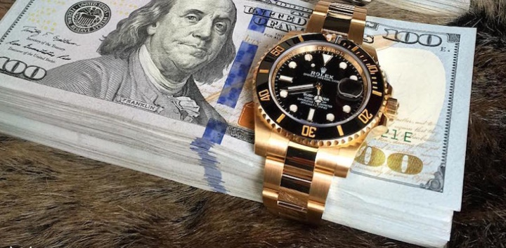 Rolex Gold Black Submariner 116618