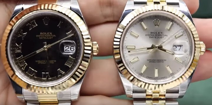 0288bd2c8b9 Comparing the dials  Rolex Datejust 41 vs Rolex Datejust II