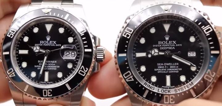 Rolex SUBMARINER vs. DEEPSEA Sea,Dweller COMPARISON