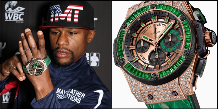king very floyd wbc a fight power mayweather special winner full the of pav timepiece received hublot watches century dubbed emerald receives as from encrusted pave
