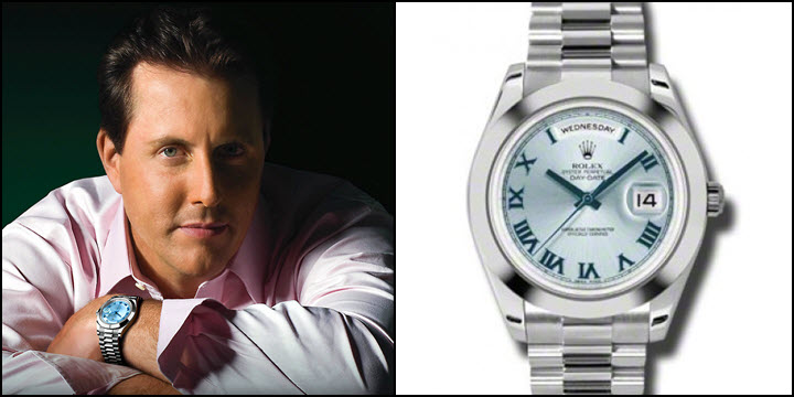 Phil Mickelson PGA Champion Rolex Day-Date President Platnium Ice Blue 218206 REVIEW