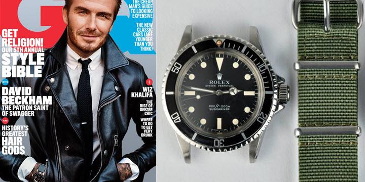 David Beckham Rolex Submariner 5513 Vintage Model Review