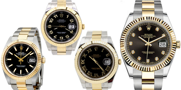 ALL Rolex Datejust 41 with Black Diamond set Dial