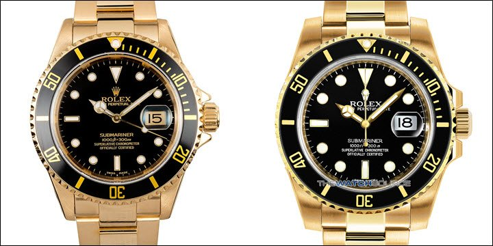 All Black Dial Yellow Gold Rolex Submariner Watches