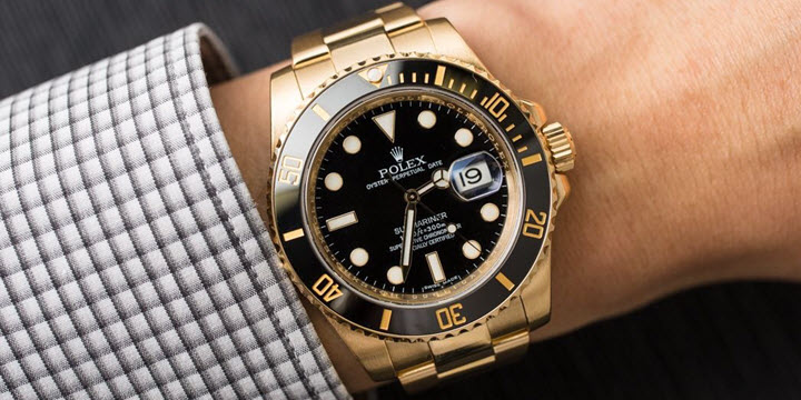 All Black Dial \u0026 Yellow Gold Rolex Submariner Watches