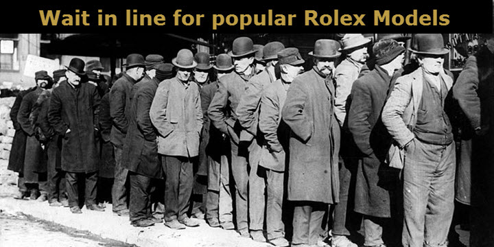 Waiting List for Rolex Models at Authorized Dealers