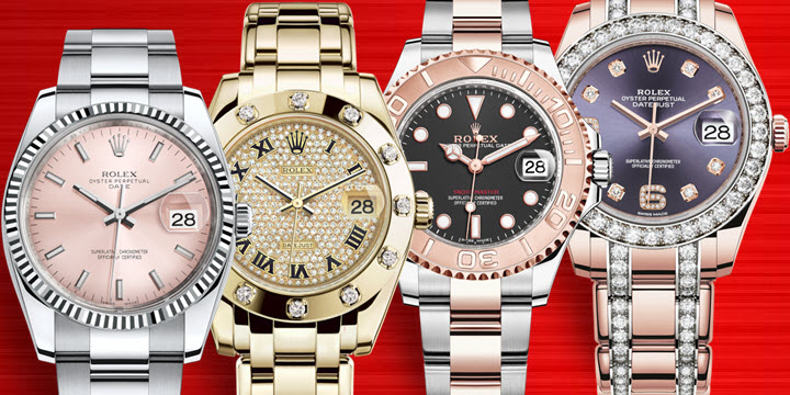 Big large Face Ladies Rolex Watches