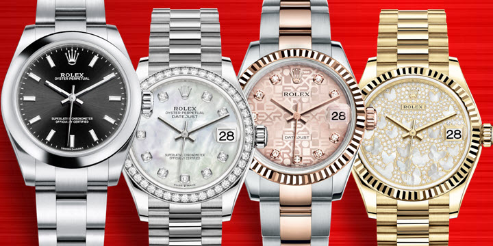Midsize Ladies Womens Rolex Watches 31mm Oyster Perpetual and Datejust