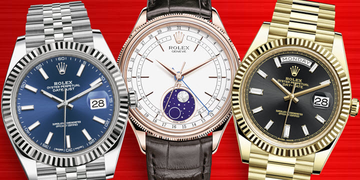 Most Popular Men's Rolex Dress Watches - Datejust 41, Cellini and Day-Date 40