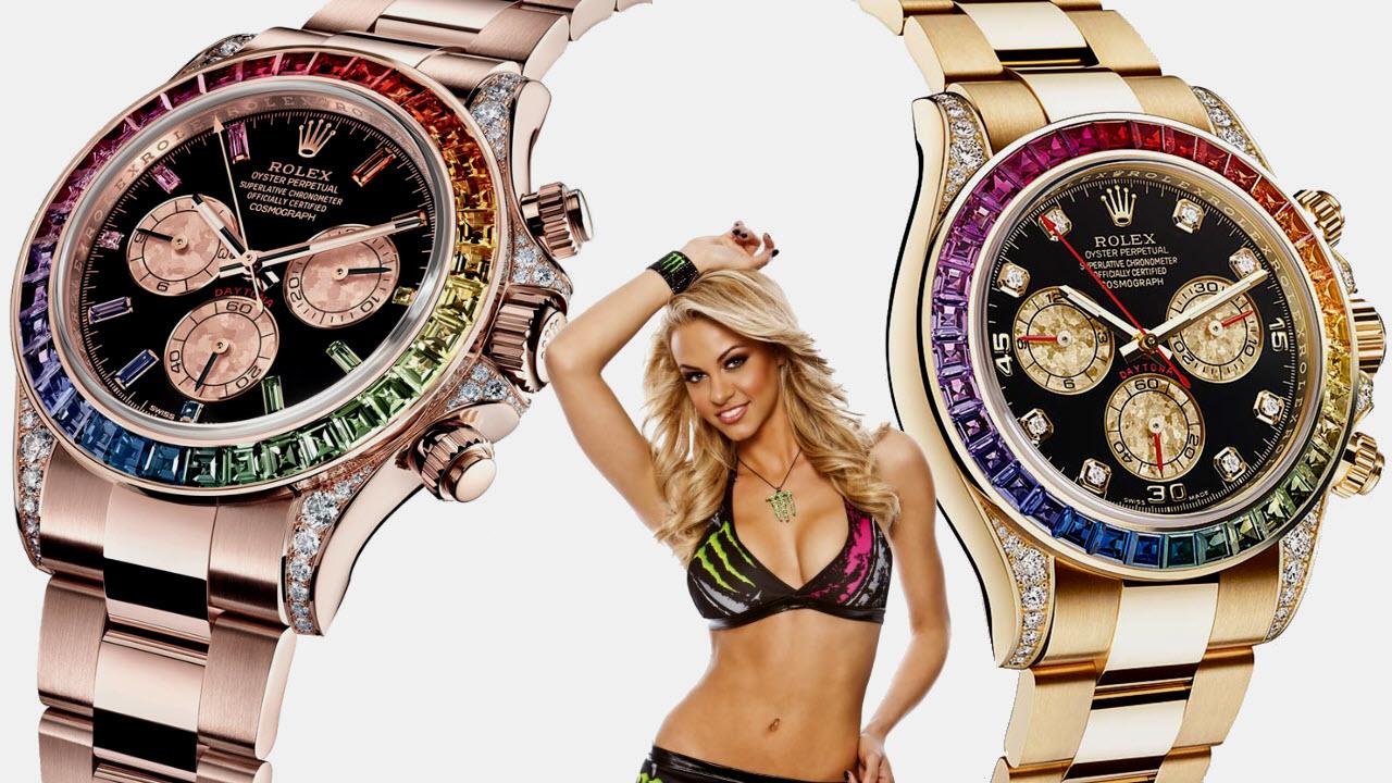 Rolex Daytona Rainbow Bezel Watches