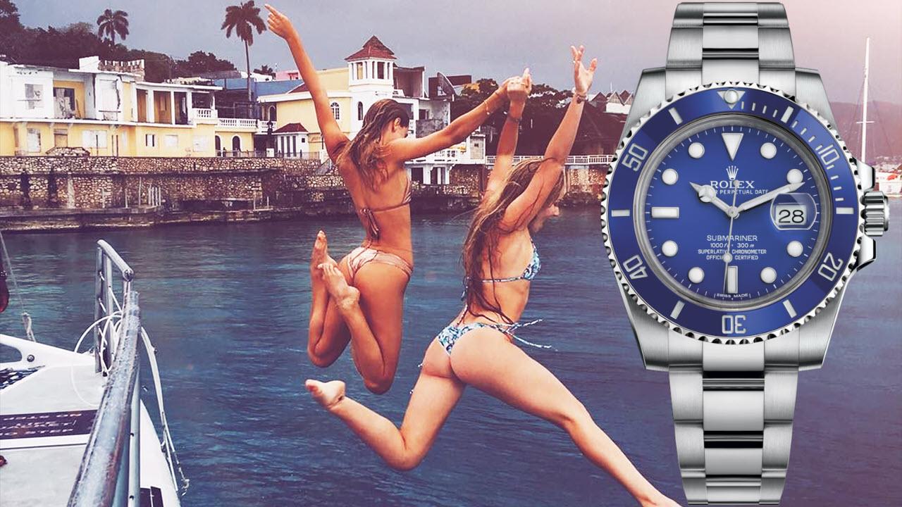 Rolex Submariner White Gold Blue