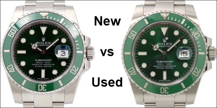 New vs Pre-Owned Used Rolex Submariner Hulk