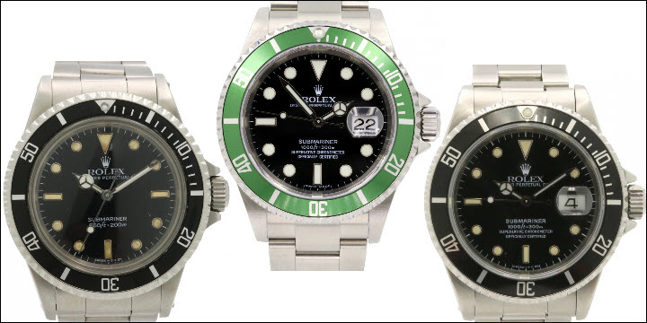 Pre-Owned, Vintage & Used Rolex Submariner Models no longer in production