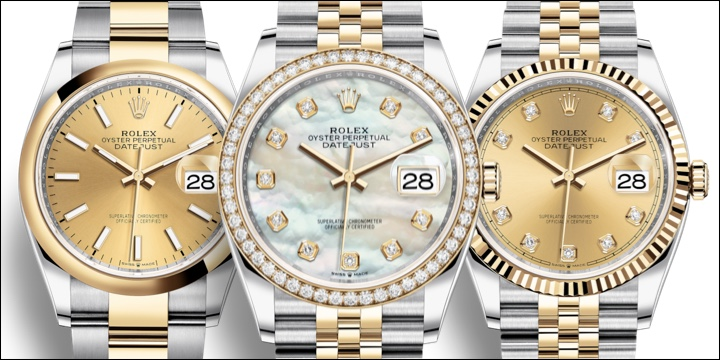 Rolex Datejust 126283 Two-Tone Yellow Gold:Steeel Rolesor Smooth Fluted Diamond Bezel Blog Review