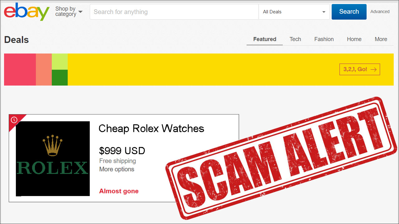 Be aware of ebay seller scams (learn more)