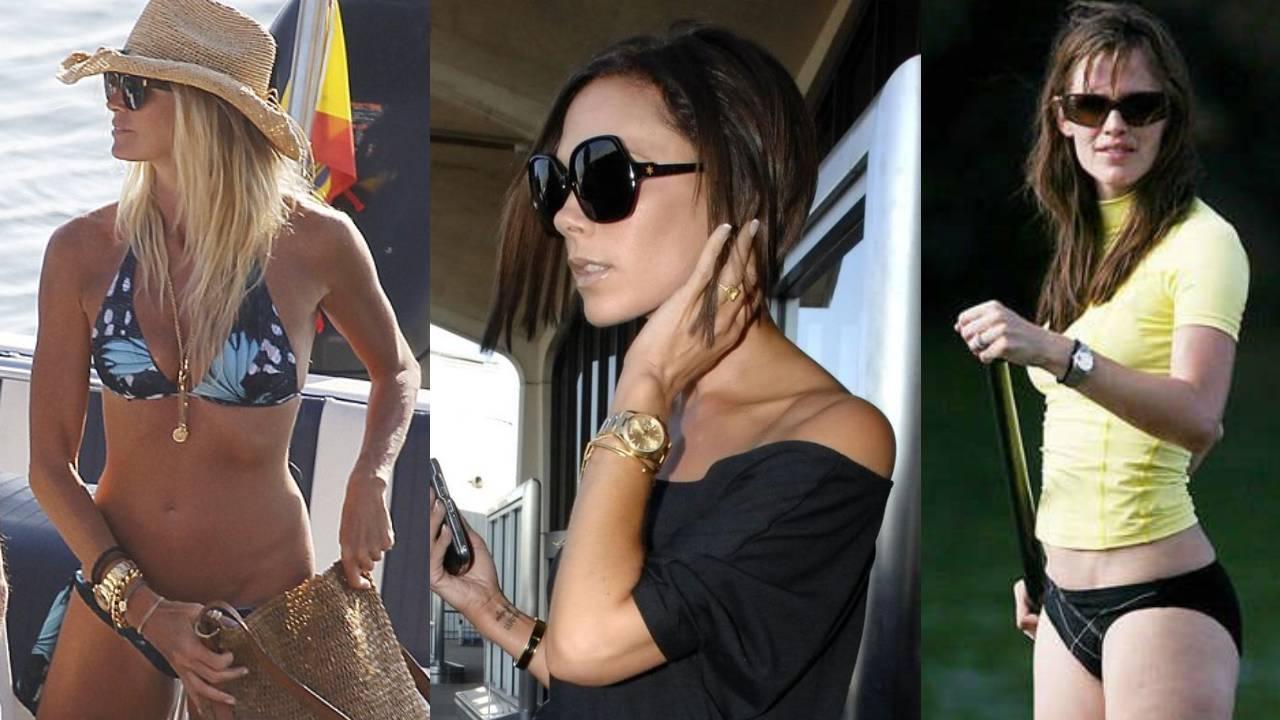 Jennifer Aniston Victoria Beckham Elle Macpherson Celebrity Rolex