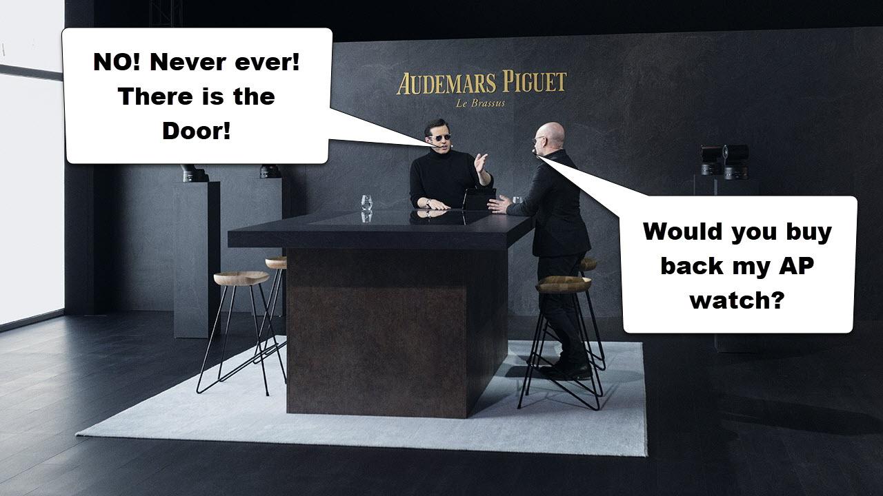 Sell AP to Audemars Piguet Shop not possible
