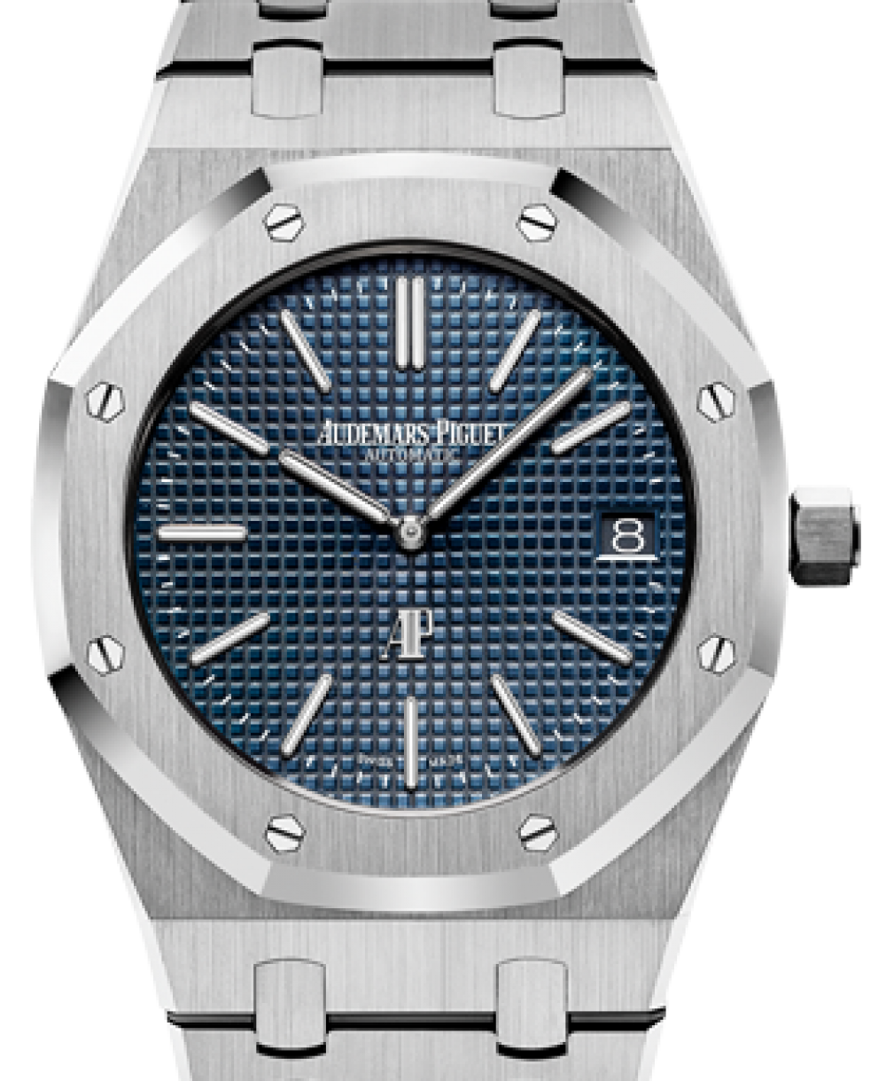 Audemars Piguet 15202st Oo 1240st 01 Royal Oak Extra Thin 39mm Blue Index Stainless Steel Brand New