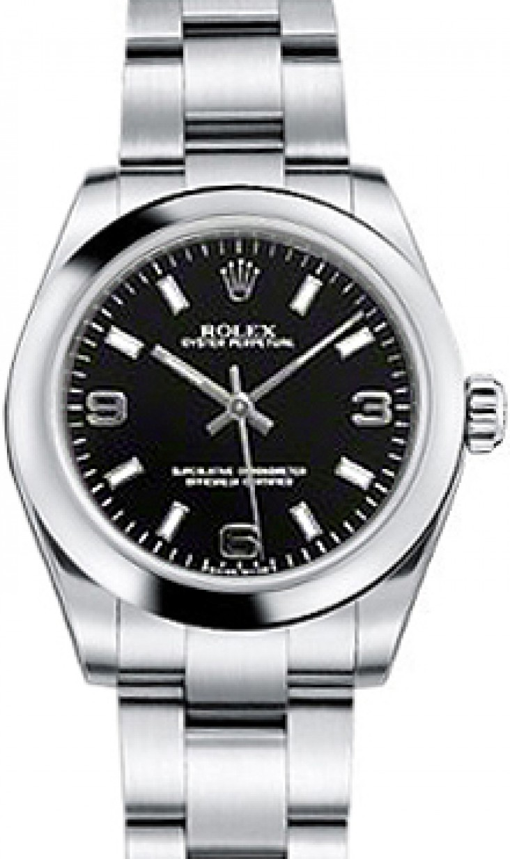 Rolex Oyster Perpetual 31 Ladies Midsize 177200 Blksao 31mm Black