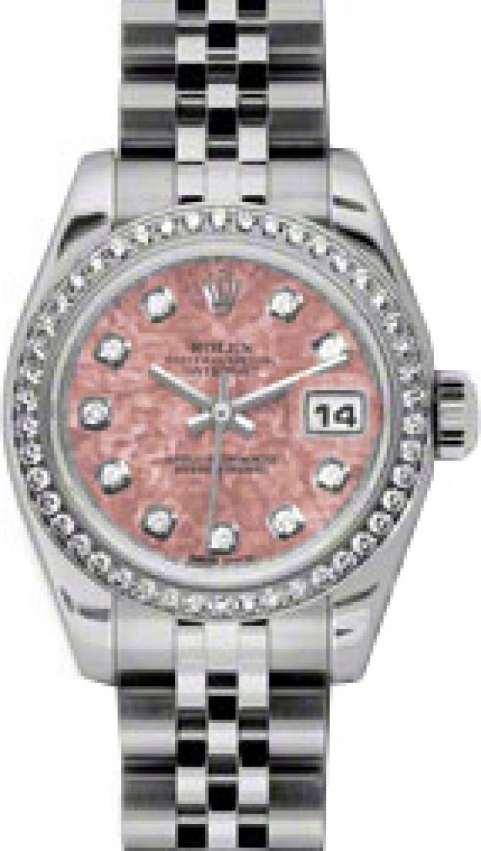 Rolex With Pink Diamonds