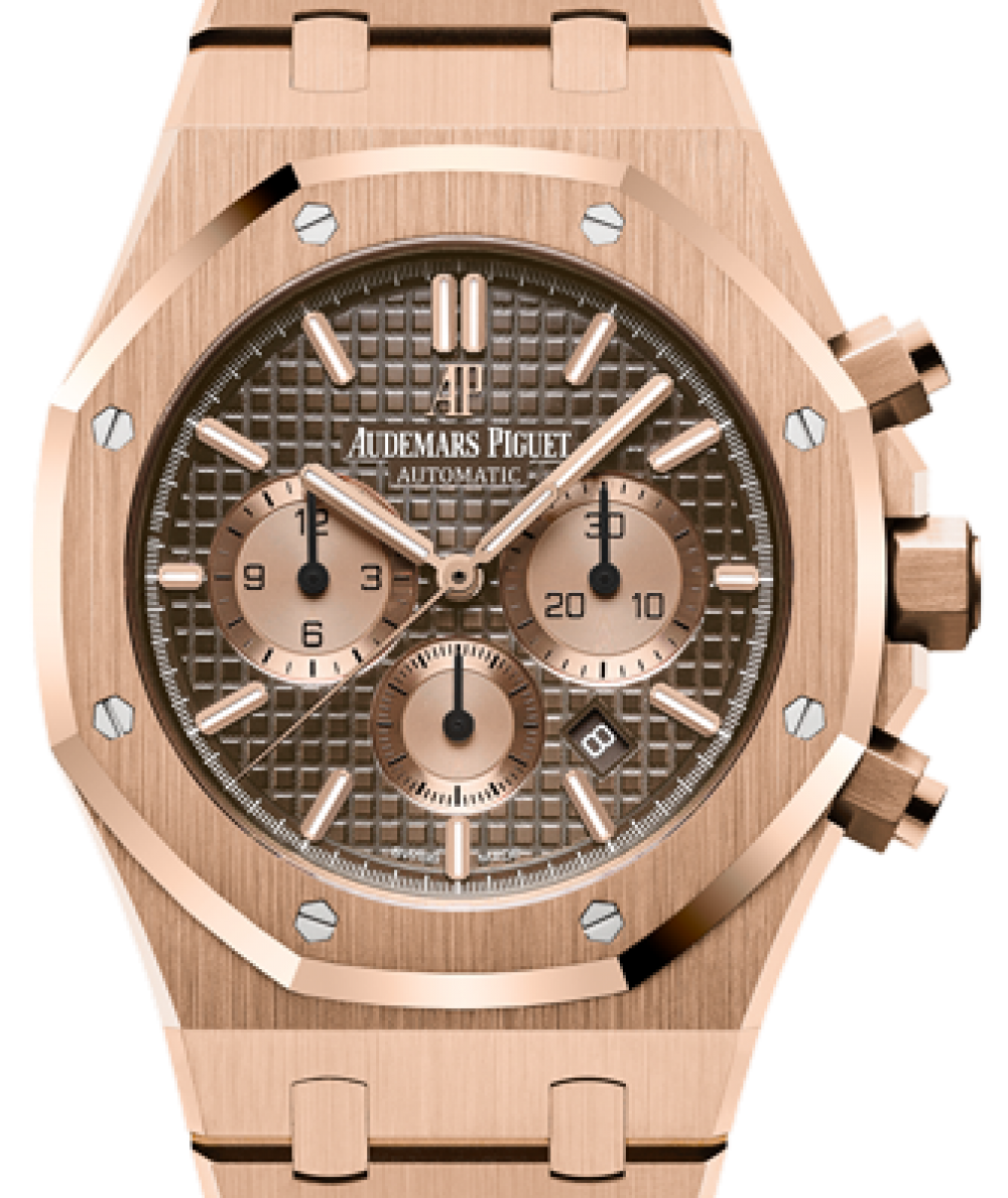 Audemars Piguet Royal Oak Chronograph 26331or Oo 1220or 02 Brown Index Rose Gold 41mm Brand New