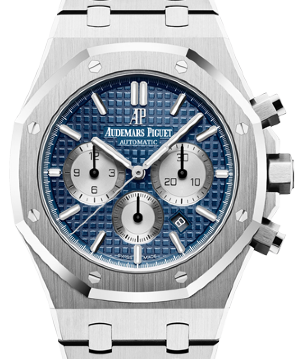 Audemars Piguet Royal Oak Chronograph 26331st Oo 1220st 01 Blue Index Stainless Steel 41mm Brand New