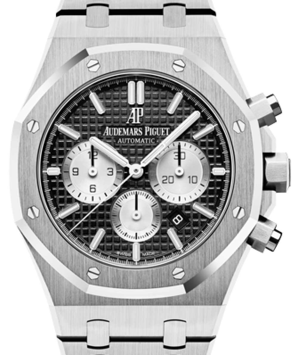Audemars Piguet Royal Oak Chronograph 26331st Oo 1220st 02 Black Index Stainless Steel 41mm Brand New