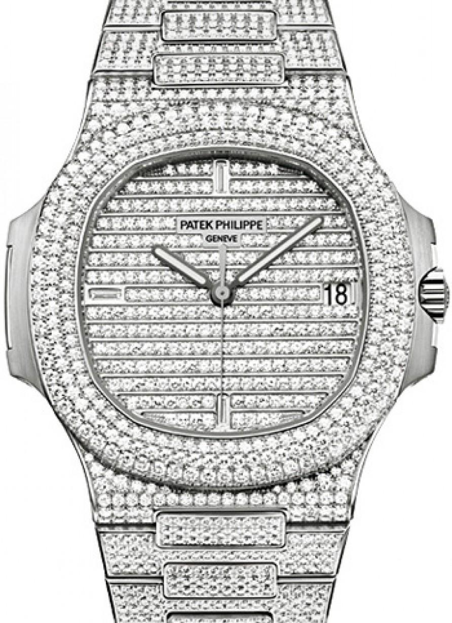 63f3545e336 Patek Philippe 5719/1G-001 Nautilus 40mm White Gold Diamond ...