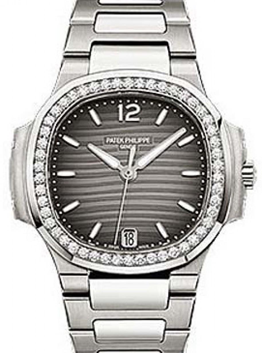 Patek Philippe 7018 1a 011 Nautilus Ladies 33 6mm Charcoal Index