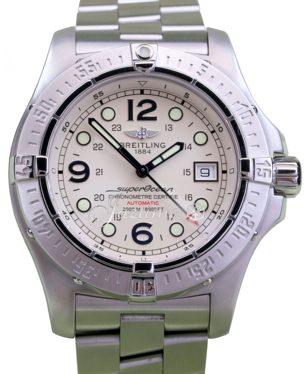 new style 0678b a9973 Breitling Steelfish A17390 44mm White Stainless Steel Pro II