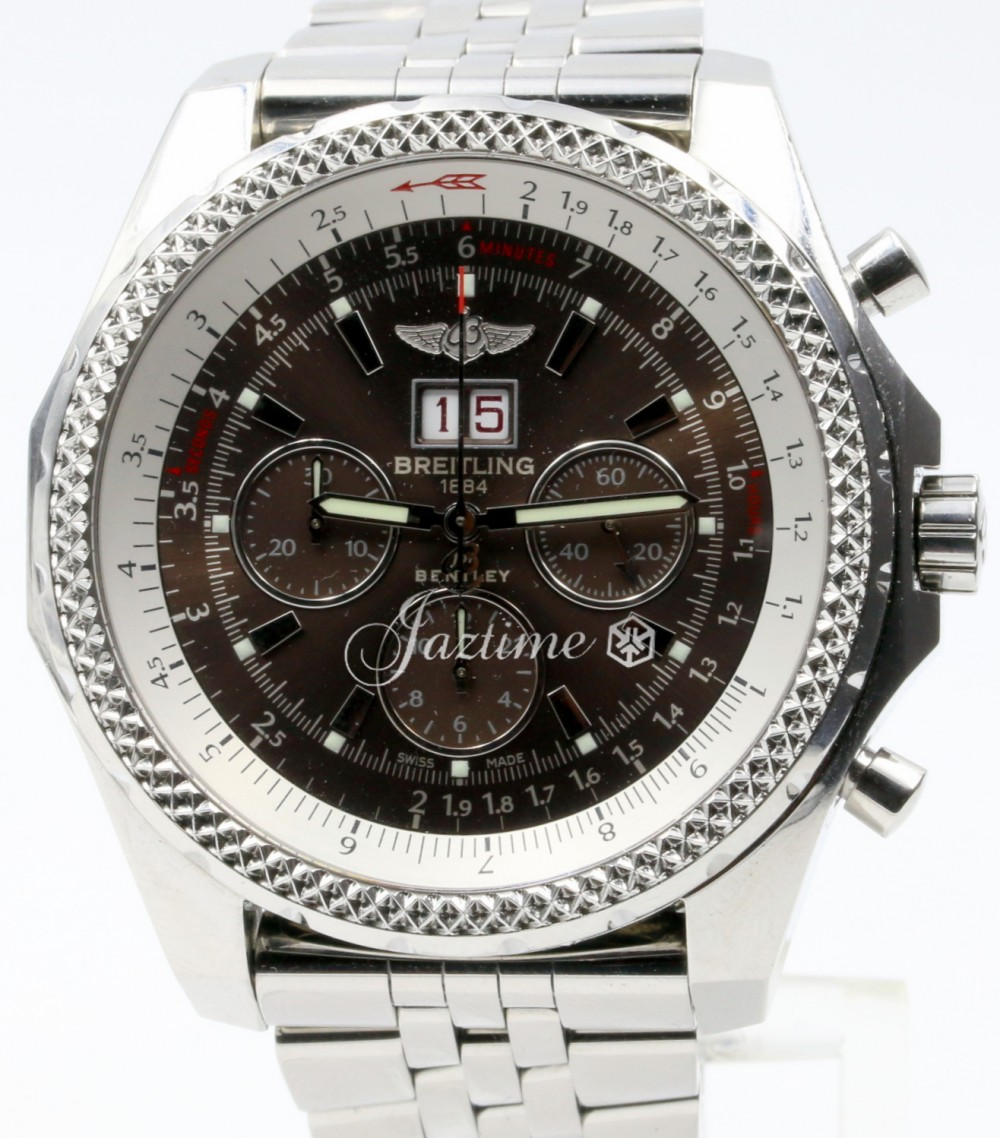 Breitling Bentley 6 75 A44362 Speed Havana Brown Stainless Steel Chronograph