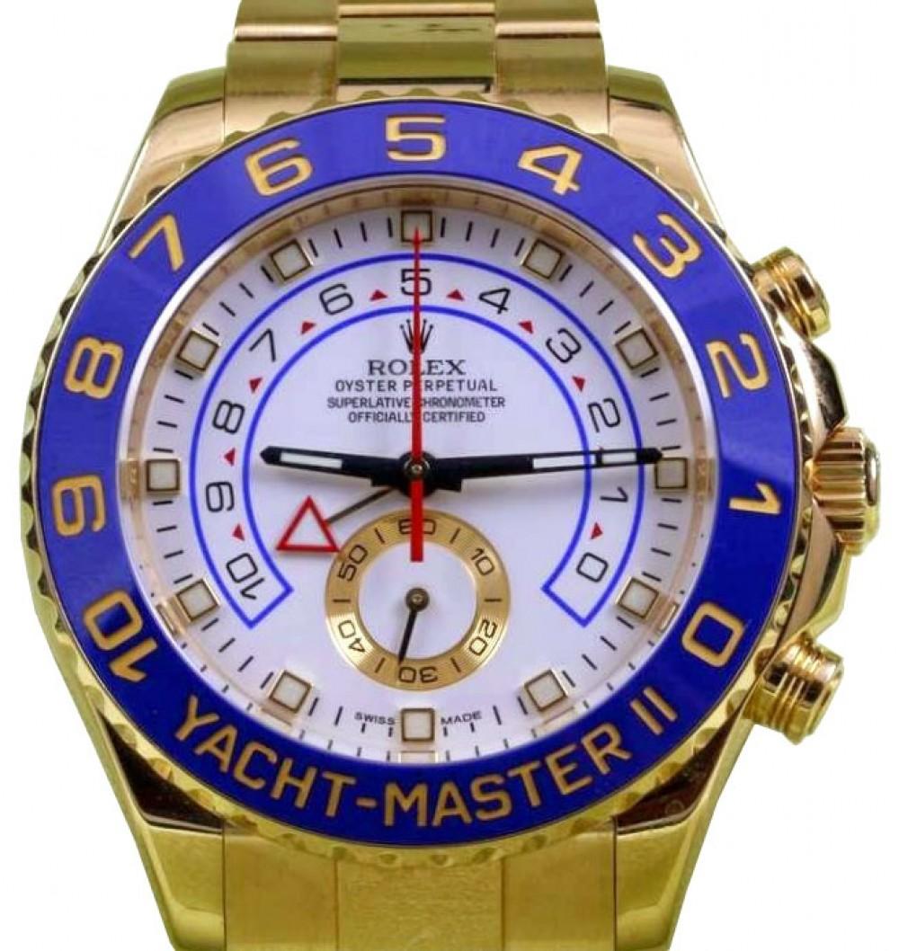 Rolex Yacht,Master II 116688 Men\u0027s 44mm 18k Yellow Gold Blue Ceramic  BOX/PAPERS