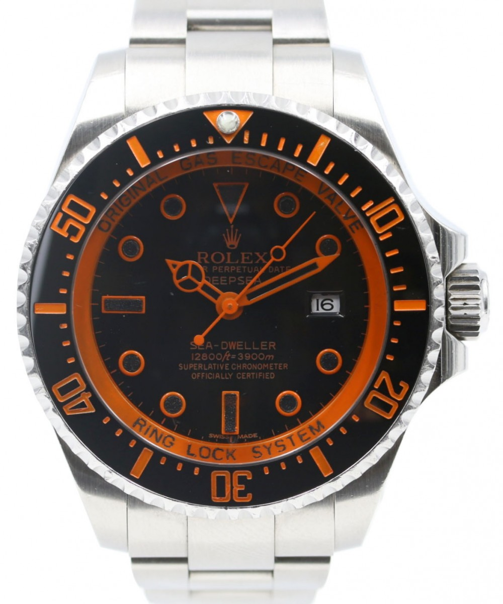 Rolex Deepsea Ceramic 44mm Orange Stainless Steel Sea Dweller PVD Black DLC  126660