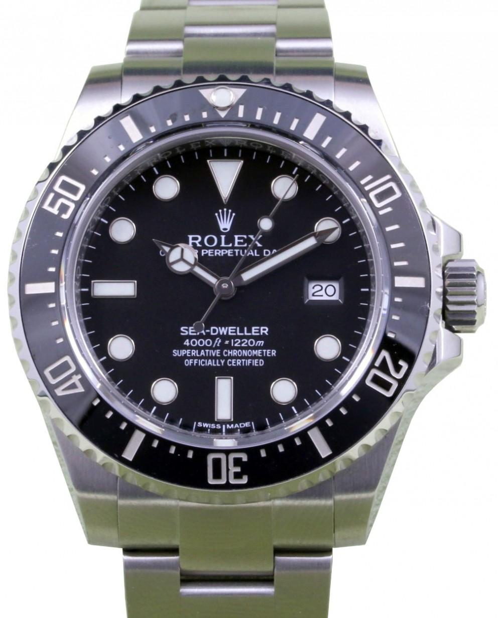 151c9ac46f3 Rolex Sea-Dweller 116600 Men's 40mm Diver Black Stainless Steel Oyster Date
