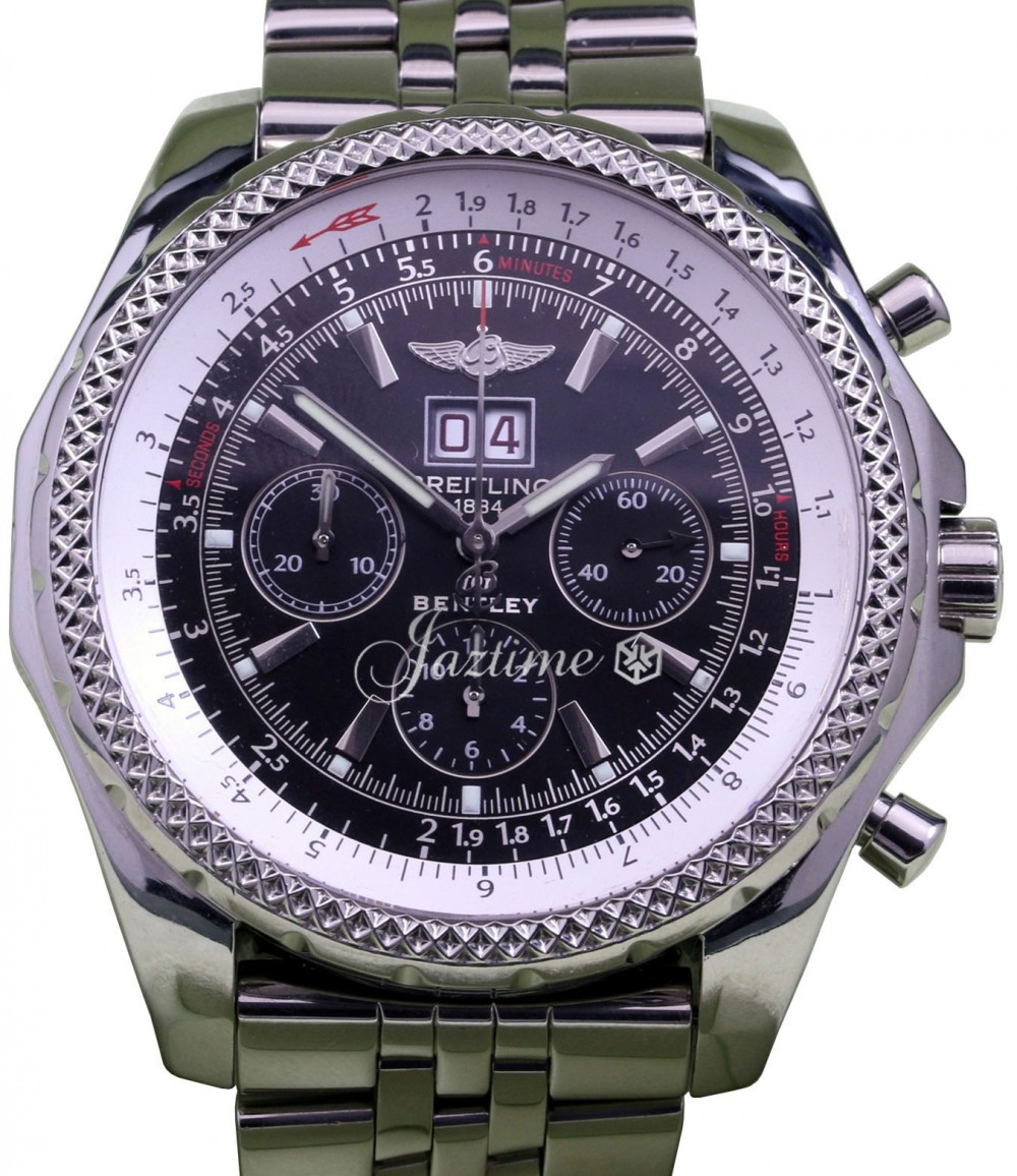 Breitling Bentley 6 75 A44362 Men S 48mm Black Stainless Steel