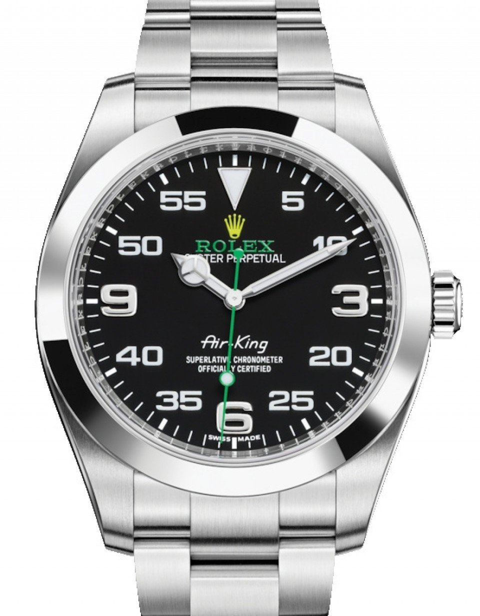 best service a720b e1965 Rolex Air-King Stainless Steel Black Arabic Dial 40mm Green Hand Oyster  Bracelet 116900 - BRAND NEW