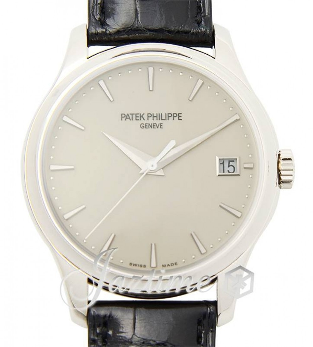 Patek Philippe 5227g 001 Calatrava 39mm Ivory Index Date White Gold Leather Brand New
