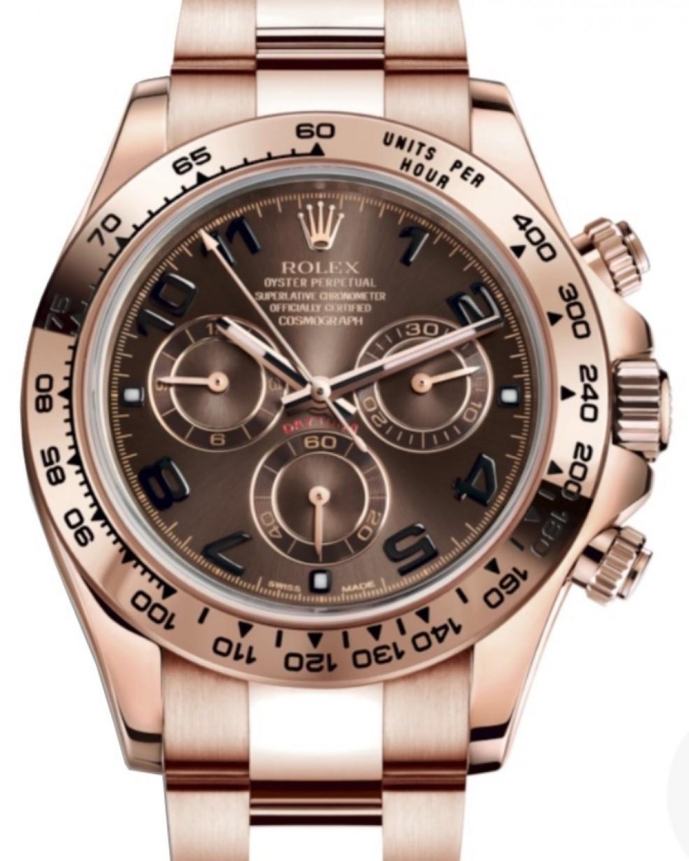 Rolex Daytona 116505 Chocolate Rose Gold Chronograph BRAND NEW