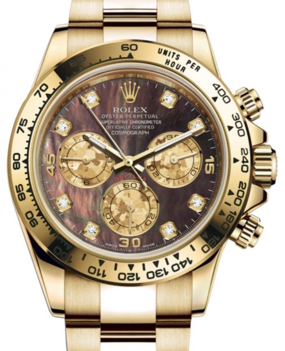 Rolex Cosmograph Daytona 116508 Dark Mother Of Pearl Diamond