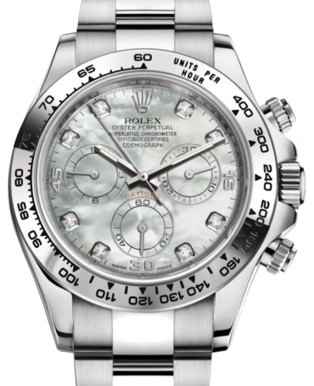 Rolex Cosmograph Daytona 116509 White Mother Of Pearl Diamond