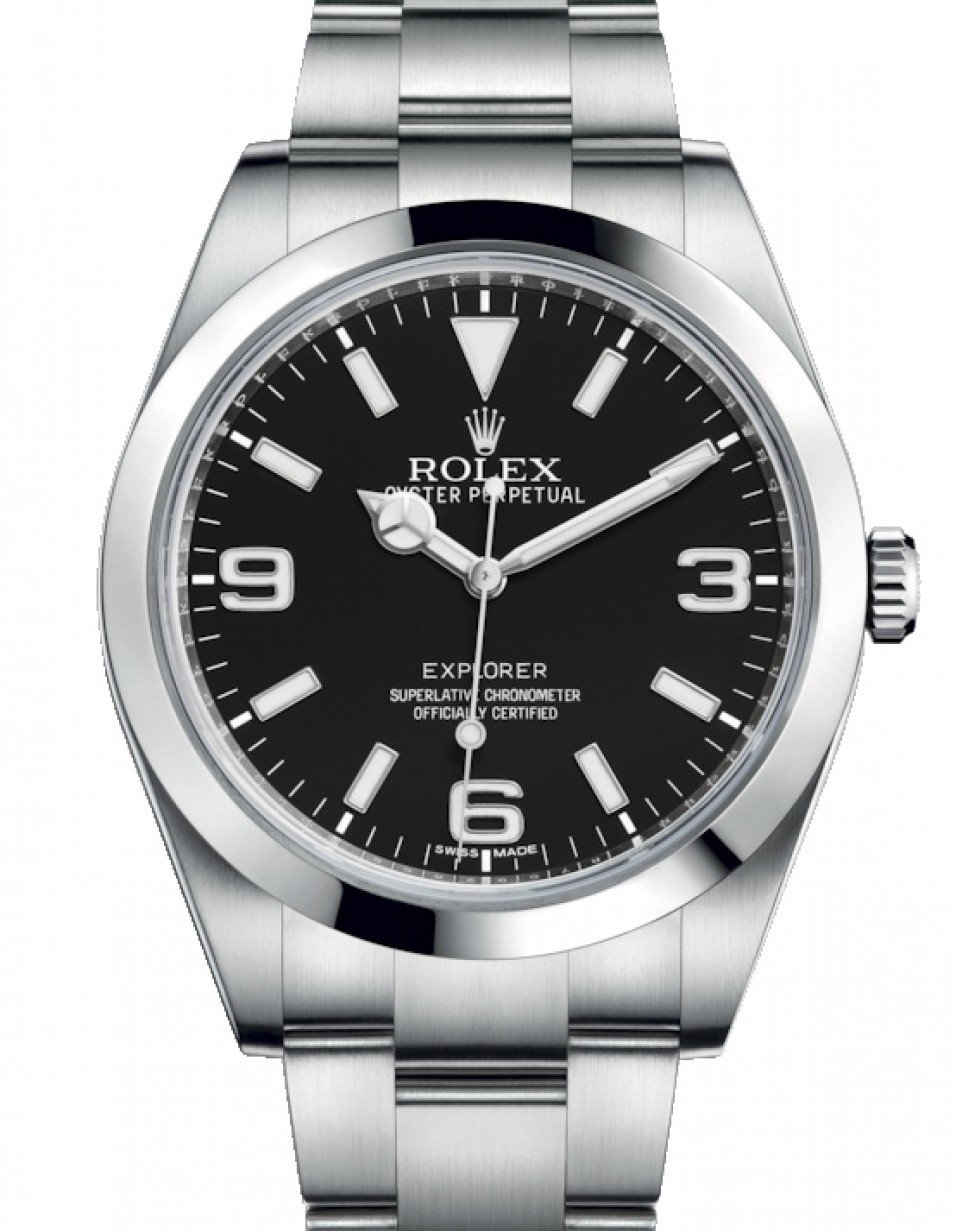 Rolex Explorer I Stainless Steel Black Arabic Index 39mm 3 6 9 New Lume  Dial Oyster Bracelet 214270 , BRAND NEW
