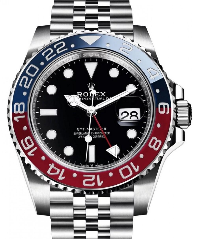 Rolex GMT,Master II \u201cPepsi\u201d Steel Black Dial \u0026 Red/Blue Ceramic Bezel  Jubilee Bracelet 126710BLRO , BRAND NEW