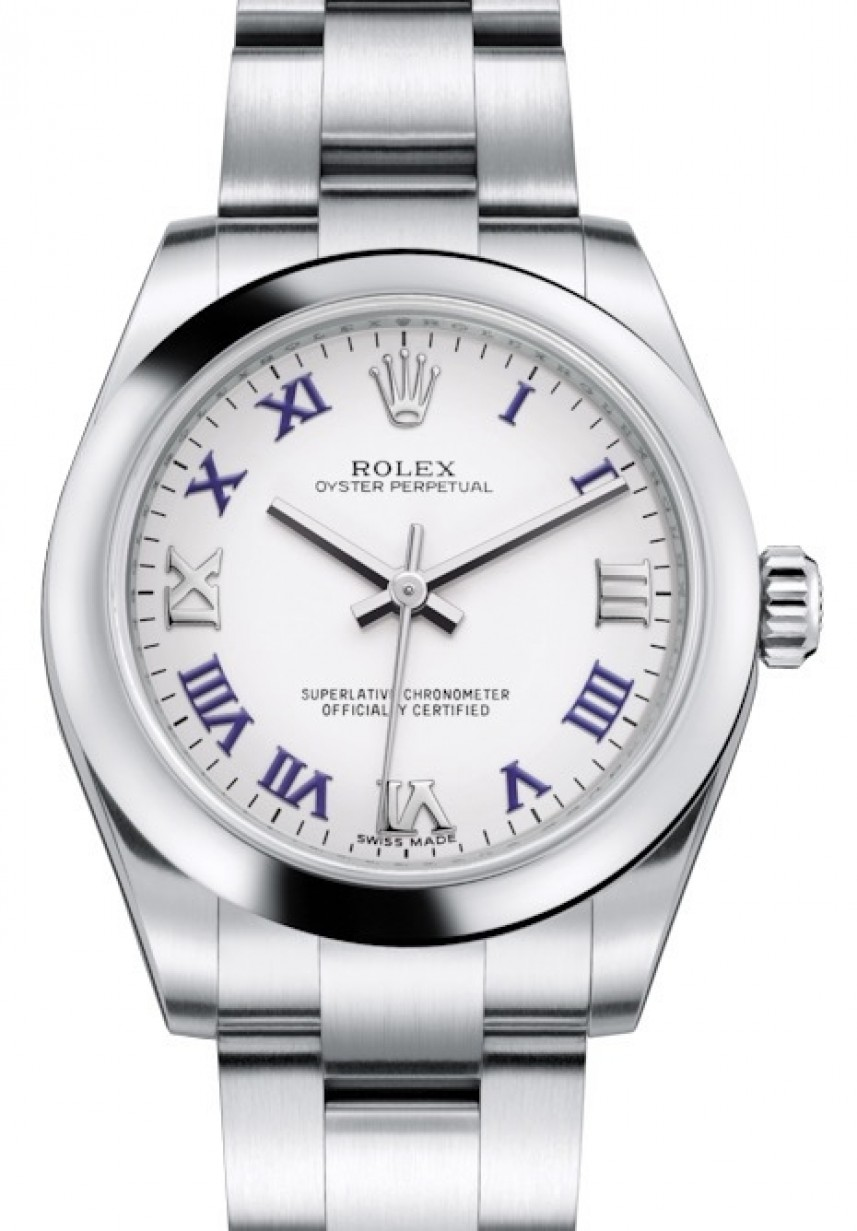 Rolex Oyster Perpetual 31 Ladies Midsize 177200 Whtbrwgo 31mm White