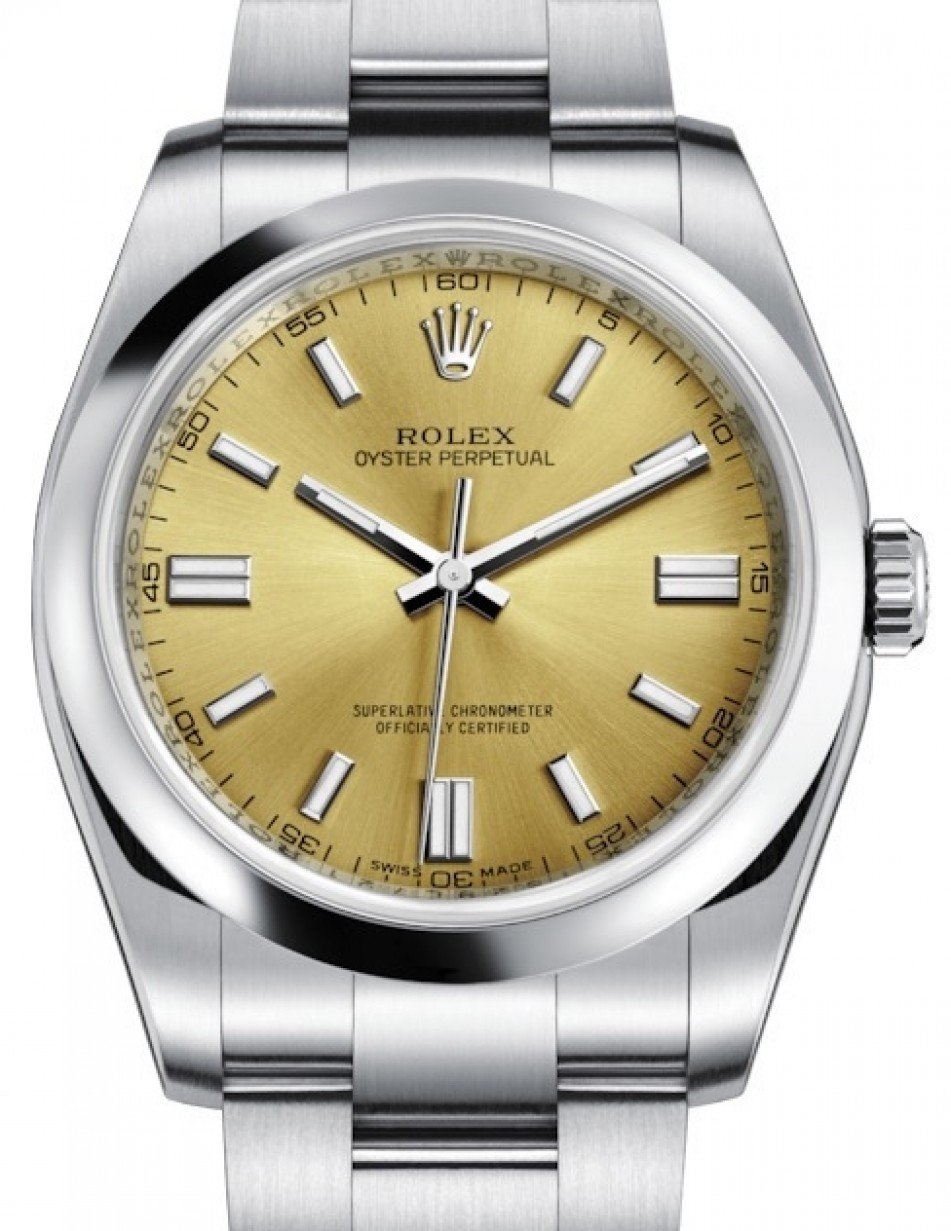 Rolex Oyster Perpetual 36 Stainless Steel White Grape Index Dial Smooth Bezel Oyster Bracelet 116000 Brand New
