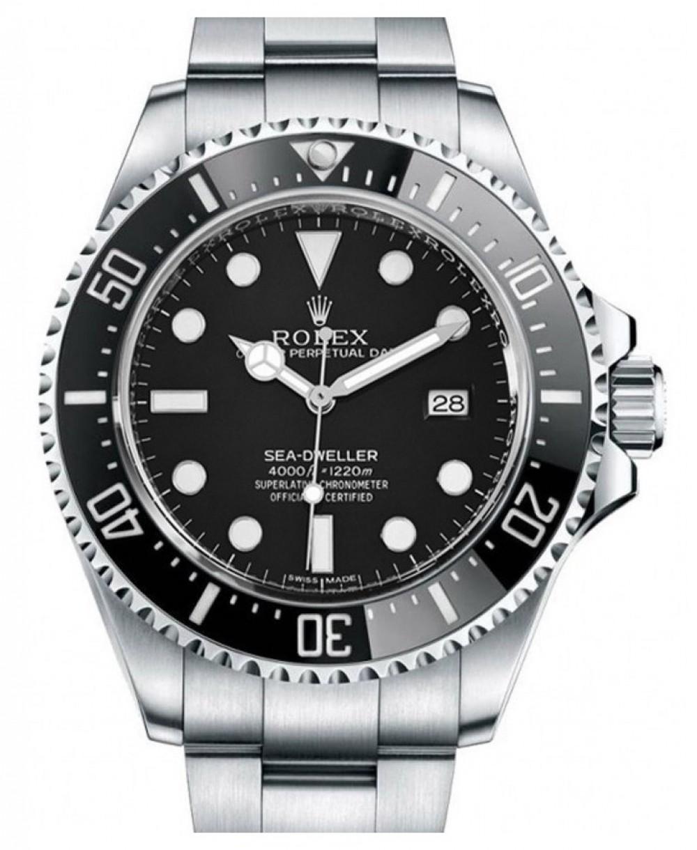 57807a97de2 More Views. Rolex Sea-Dweller 4000 Stainless Steel Black Maxi Dial &  Ceramic Bezel Oyster Bracelet 40mm
