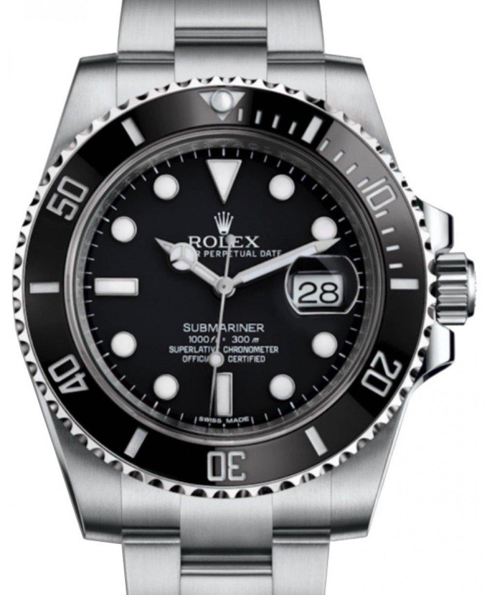 Rolex Submariner Date Stainless Steel Black Dial \u0026 Ceramic Bezel Oyster  Bracelet 116610LN , BRAND NEW