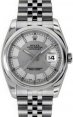 Rolex Datejust 36 Stainless Steel Silver/Steel Index Dial & Smooth Bezel Jubilee Bracelet 116200 - BRAND NEW